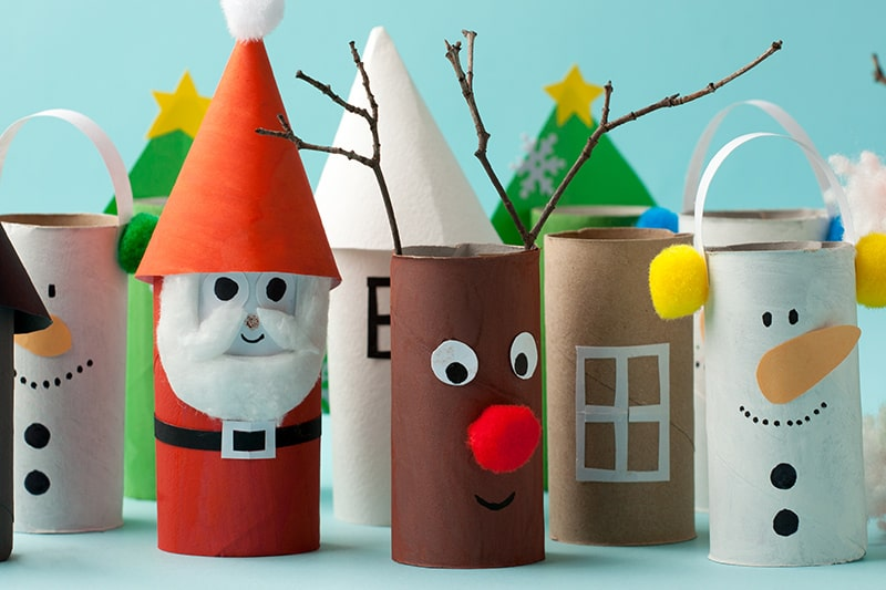 DIY cardboard roll home decorations are easy and simple handmade christmas decoration idea.