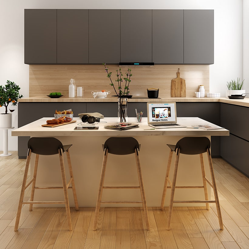 Kitchen island table is perfect for those wanting to utilise breakfast bar as workstation