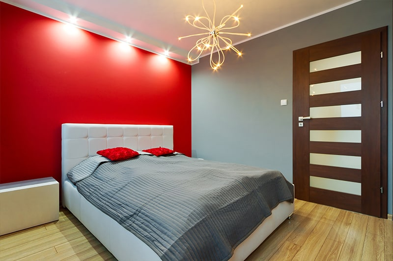 Frosted glass door designs for bedroom gives modern bedroom an added edge