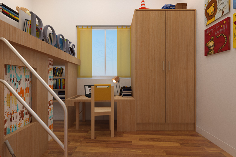 Solid wood wardrobe where no space is too less to hold your wardrobe with plywood wardrobe online.