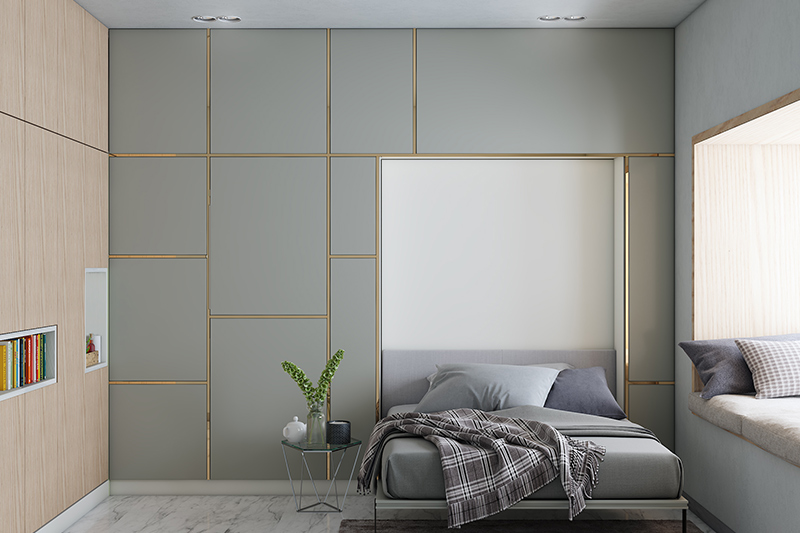 Modern sliding wardrobe designs for bedroom with panel style of wardrobes with a classic look