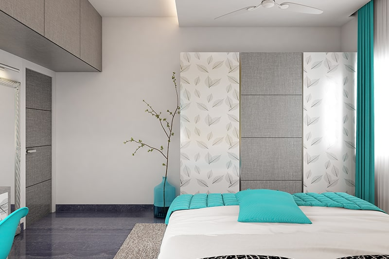 Modular wardrobe cabinets gives bedroom extra storage, its smart design idea for modular wardrobe design