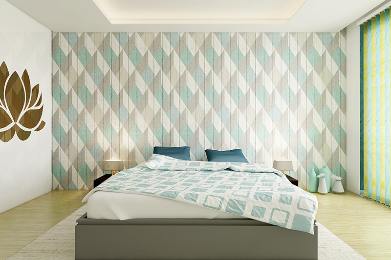 Bedroom design wallpaper with textured wall design with pop with bedroom wallpaper price