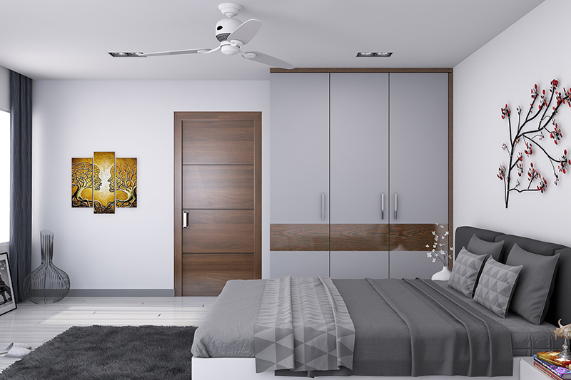 Latest furniture design for bedroom with square shelves for books and a sudy table with shelve for bedroom furniture wardrobe designs