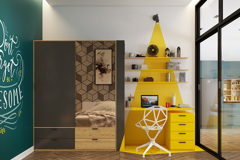 Bedroom almari furniture design with a wooden colour furniture with sunmica design for bedroom furniture