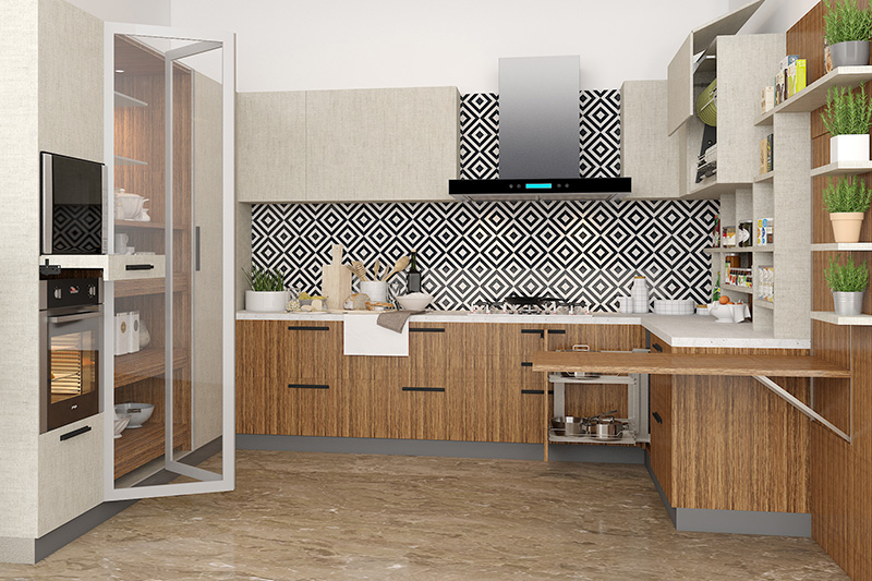 Kitchen backsplash tile with blue theme with blue colour squares with kitchen backsplash gallery