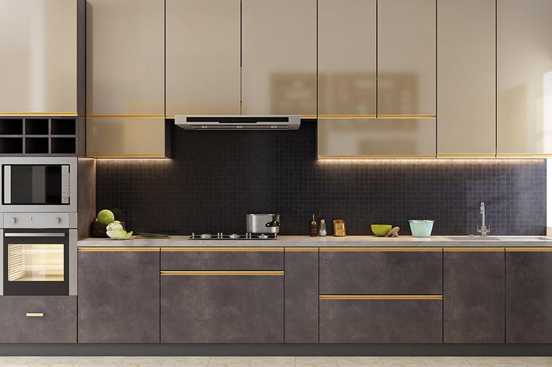 Kitchen tile backsplash ideas with a beautiful black colour tile in rustic kitchen backsplash