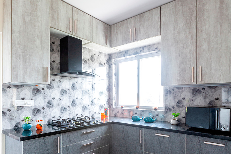 Modern kitchen wallpaper design with beautiful floral patterns with feathers printed on it as a country kitchen wallpaper images