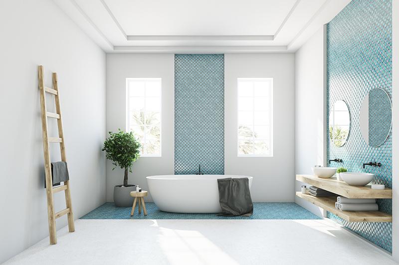 Bathroom floor tiles design with a shiney white colour with these bathroom floor tile images