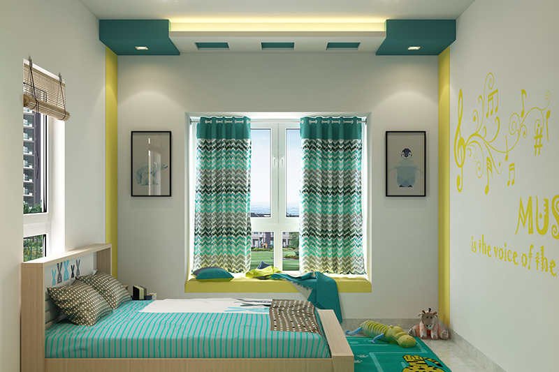 Interior design bedroom furniture with a  minimalistic room furniture in kids bedroom furnishings