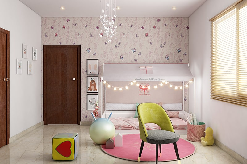 Little girl bedroom decor idea by using the magic of butterflies to give wings to your little girl's