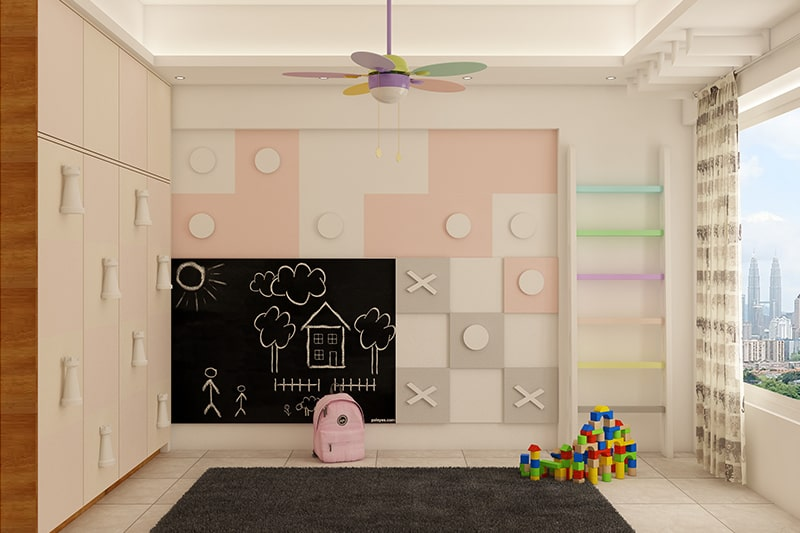 Wall decor teenage girl bedroom with noughts and crosses themed wall decor
