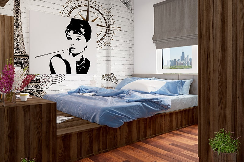 Complete the understated glamorous look for a classy girls bedroom