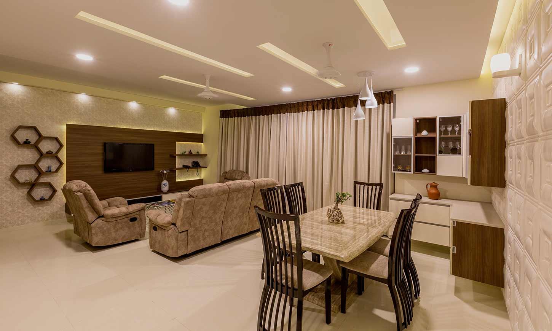 Apartments interior designers in bangalore for living cum dingng room