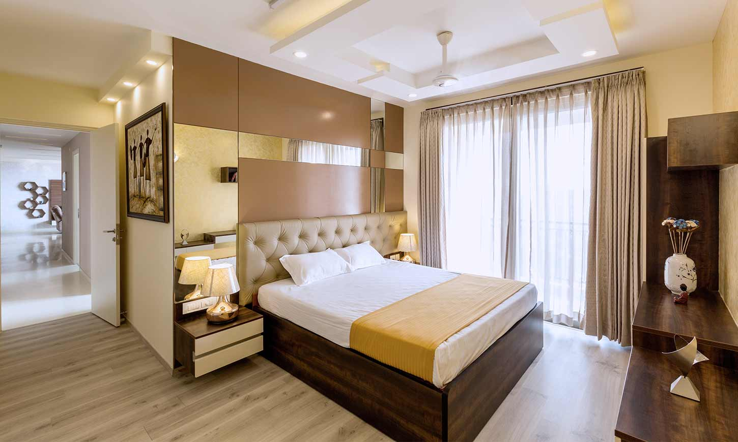 Interior companies in bangalore for master bedroom with an elegant look