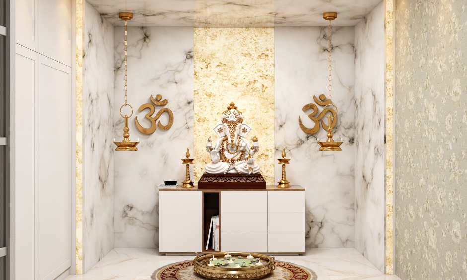 Vastu ganesh entrance for your home with golden ganesha and bells for vastu ganesha idol