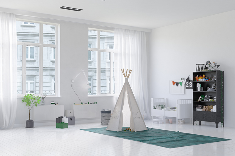 Nursery decor ideas for your baby with a bright white theme and a small cupboard for boy nursery design