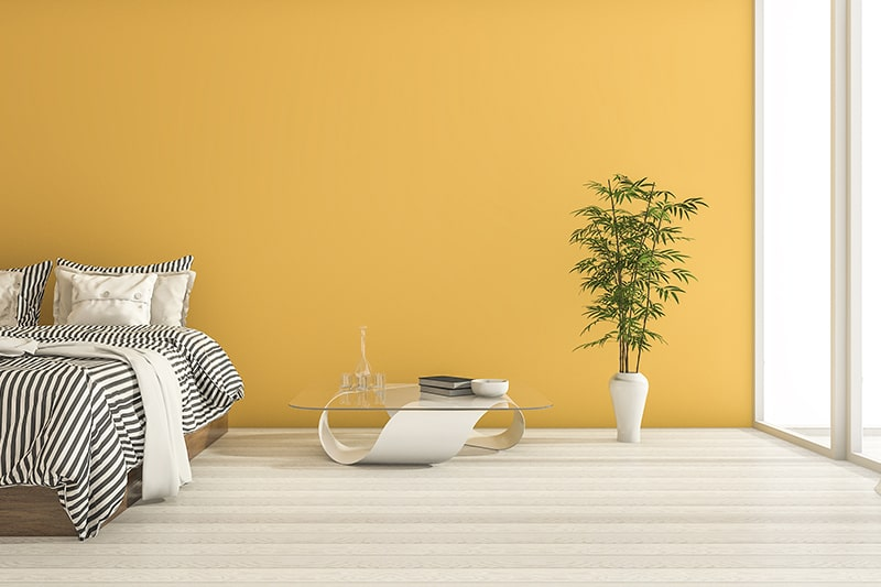 Best bedroom paint colors with yellow, this kind of bedroom walls look absolutely cheerful and sunny