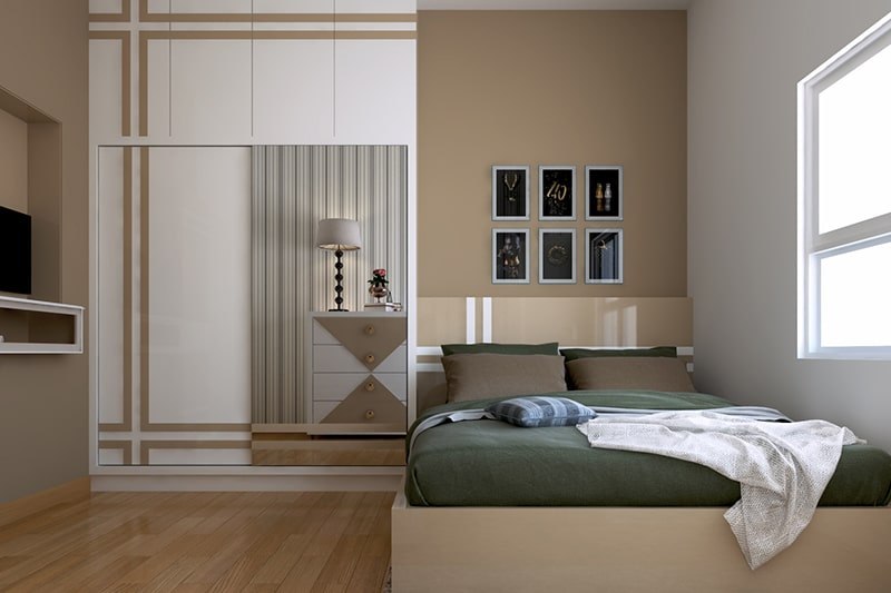 Most recommended bedroom paint colour is beige, it is a light paint colors for bedroom