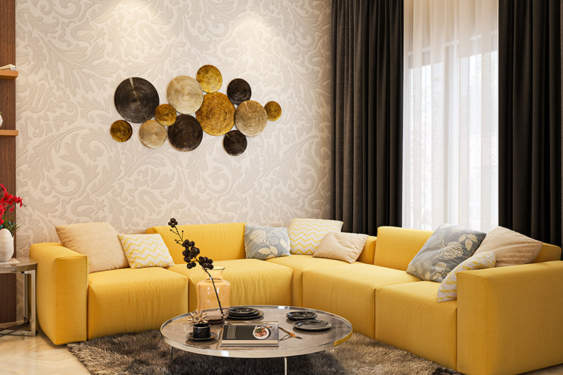 Bedroom colours for newlyweds with a comfortable stylish seating for newlywed home decor