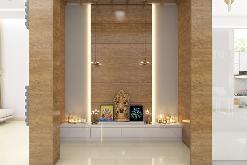North facing house vastu plan with pooja room for your home