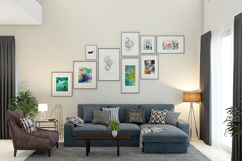 Best wall decor for living room with framed posters, paintings, photographs and wall-hangings, its diy wall decor for living room