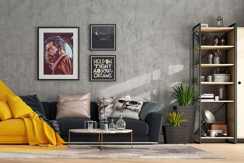 Living room wall decor ideas by painting your wall with an eclectic quote
