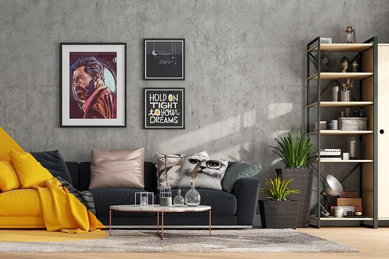 10 Brilliant Living Room Wall Decor Ideas Design Cafe