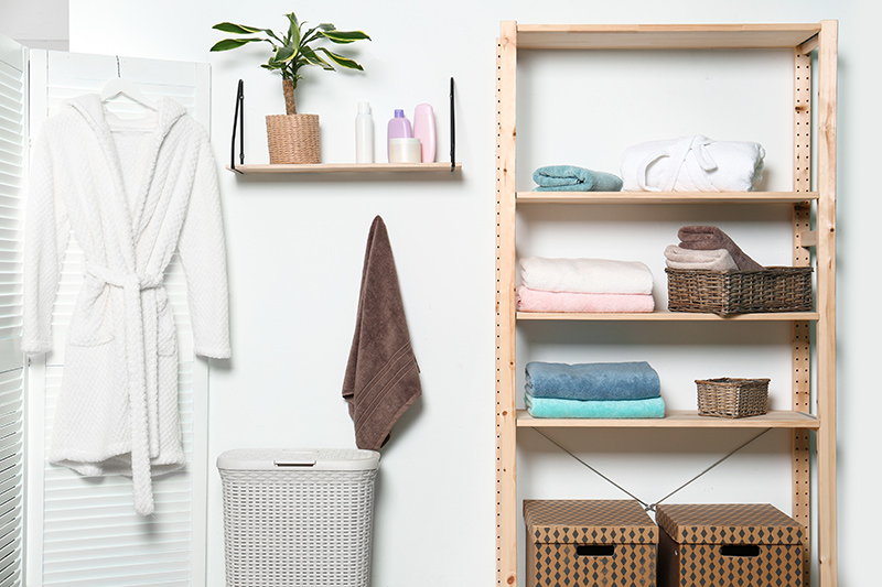 Bathroom storage shelves where you can display your essentials with pride