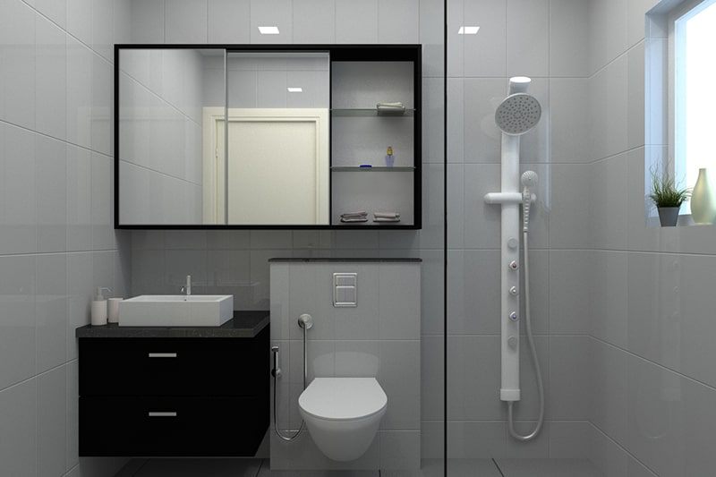 Bathroom mirror cabinet to be placed over the bathroom sink and its gives your bathroom cabinets in minimalist look