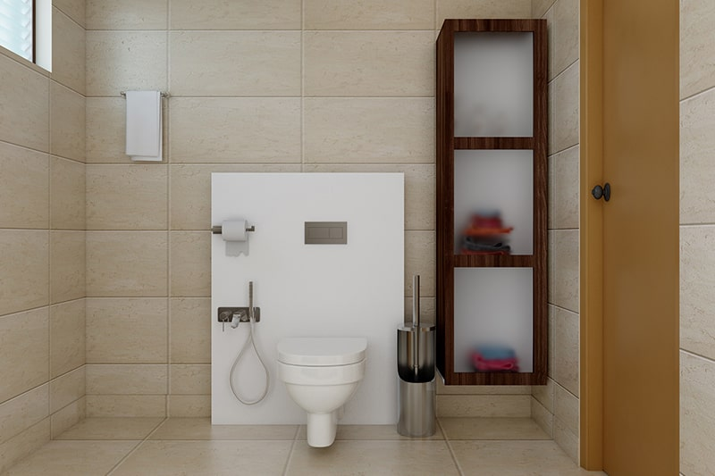Glass bathroom cabinet bring in style and lots of storage space
