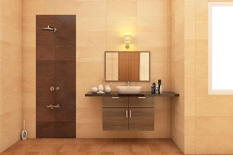 Floating bathroom cabinet designs gives your bathroom cabinets in sleek look