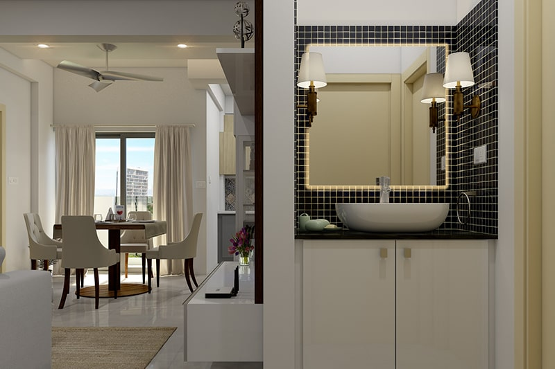 Vanity bathroom cabinets can be designed to be placed around your sink