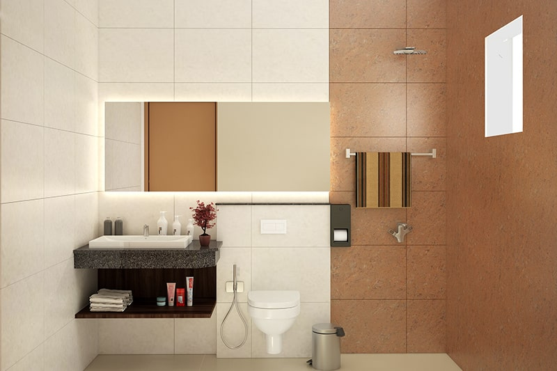 Small storage bathroom cabinet designs for corner with a minimal shelves, racks or tiny cabinets