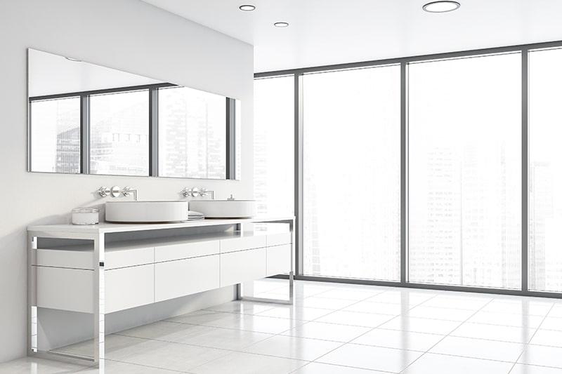 Metal bathroom cabinets makes your bathroom look ultra modern and sleek style