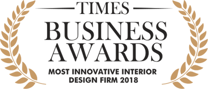Design Cafe received Times Business Awards 2018 for most innovative interior design firm in 2018