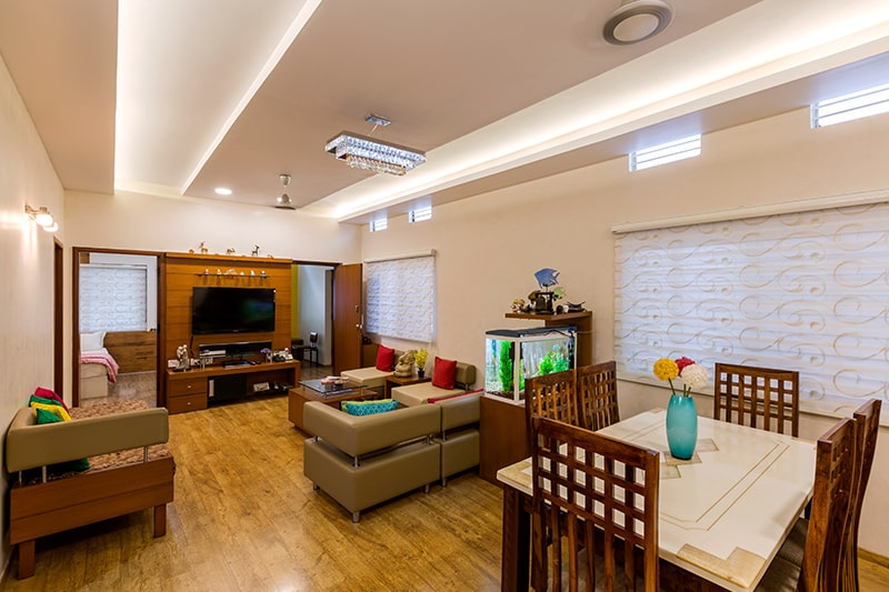 Living room colour as per vastu, choose yellow, beige, tan cream and light blue can be used in combination with white colour