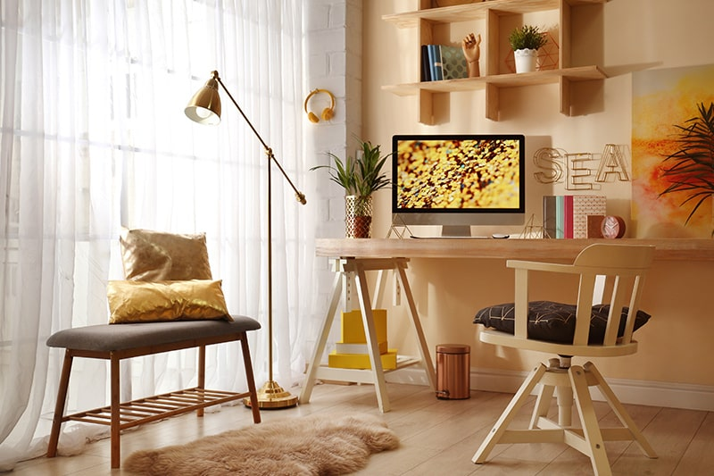 Vastu colors for home office with lighter shades of gold, yellow, green or cream, these are vastu colors for home