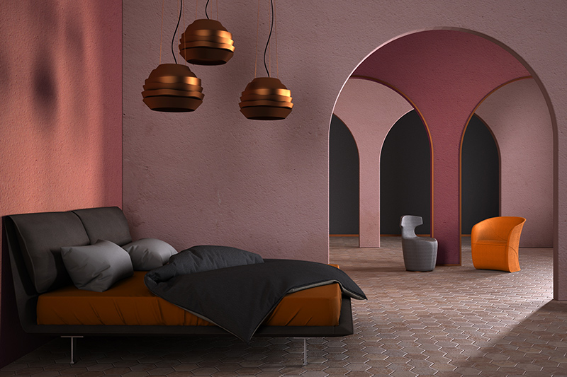 Bedroom floor tiles with coloured ceramic tiles which gives a rustic look to best floor tiles for bedroom