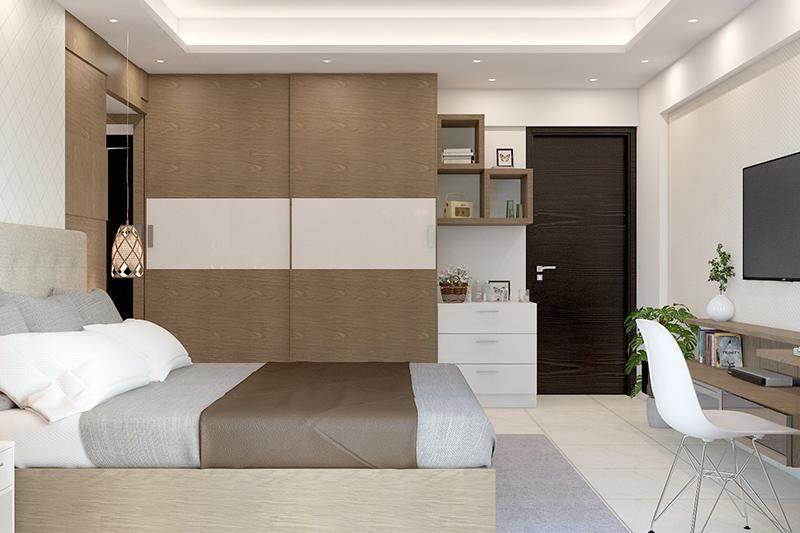 Bedroom floor with vinyl tiles which is a great material to walk in your bedroom wooden flooring