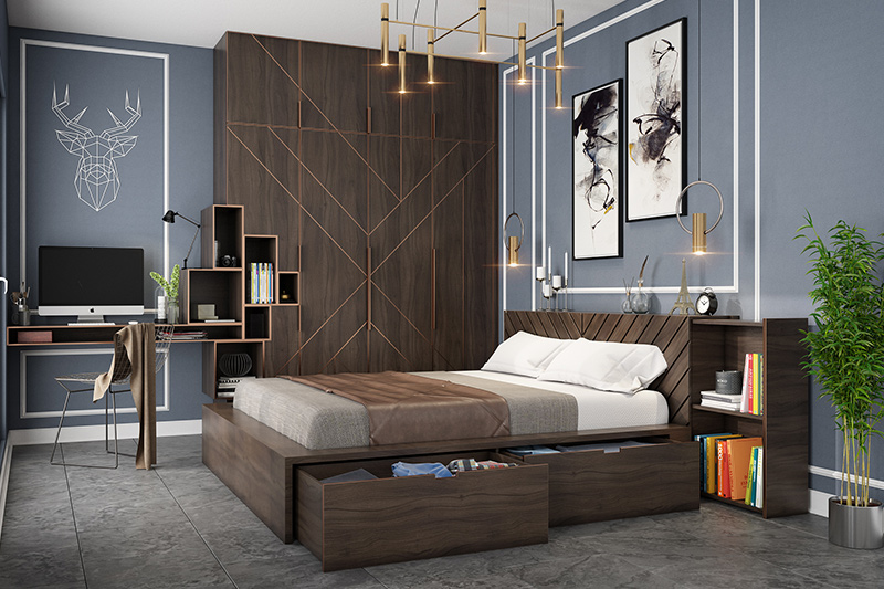 Bedroom floor tiles for your home with vitrified tiles which are a good alternative for marble in bedroom flooring trends