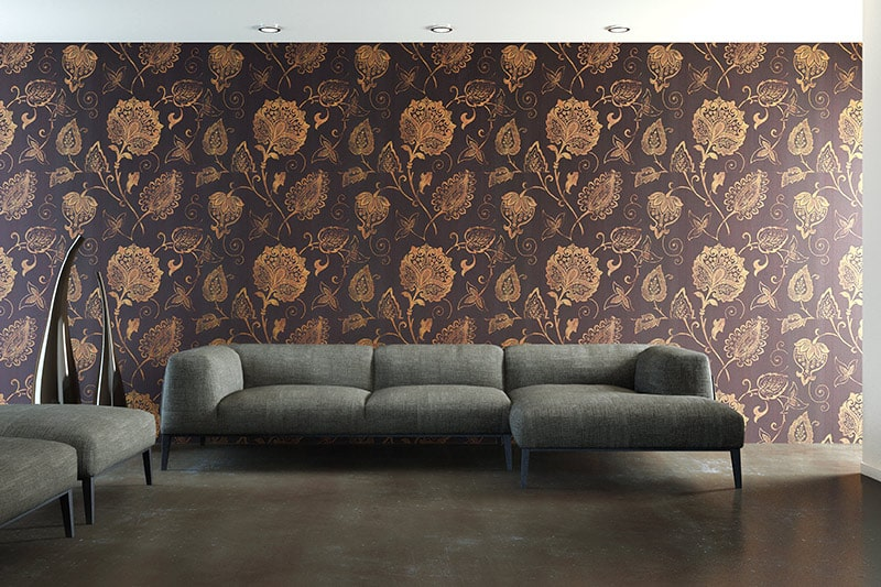 Living room wallpaper ideas with a soft and delicate floral patterned wallpapers