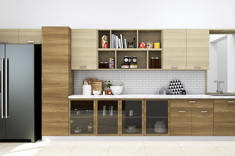 Glass kitchen cupboards design with glass fronts instantly jazz up your interiors