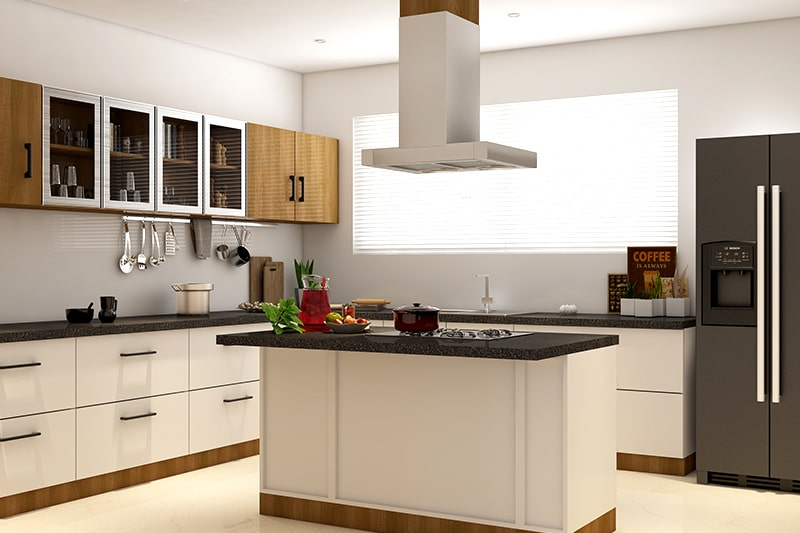 Kitchen wall cupboards are the best use of space for simple kitchen cupboard designs