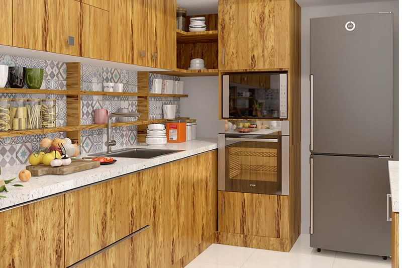 Sunmica kitchen cupboard is a best budget friendly kitchen cupboard design option