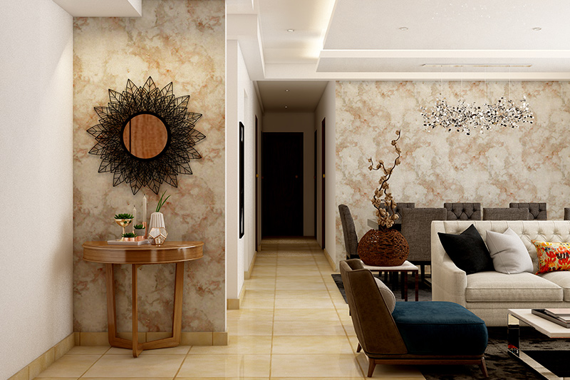 Foyer design ideas and easy ways to make your foyer useful for entrance wall design