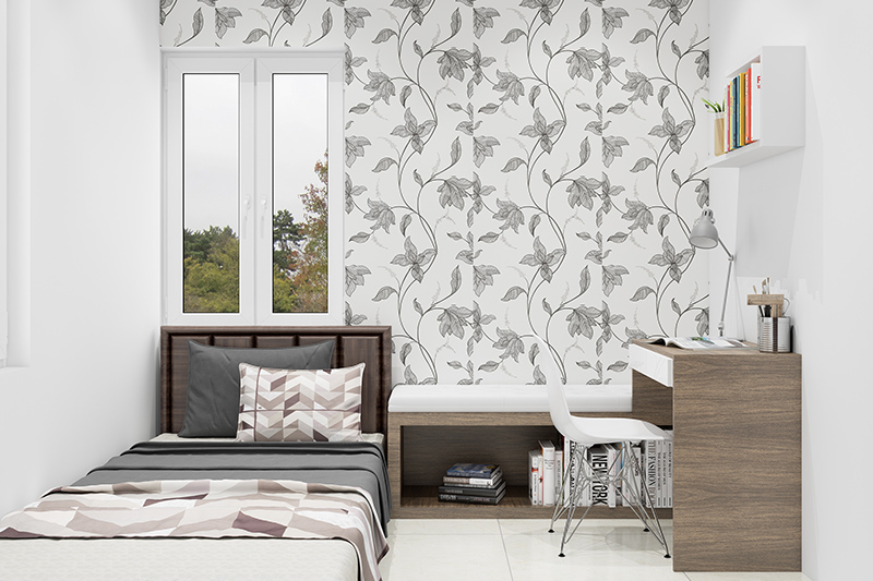Wallpaper designs for bedroom indian with a floral design which combines the subtleness of nature for bedroom wallpaper