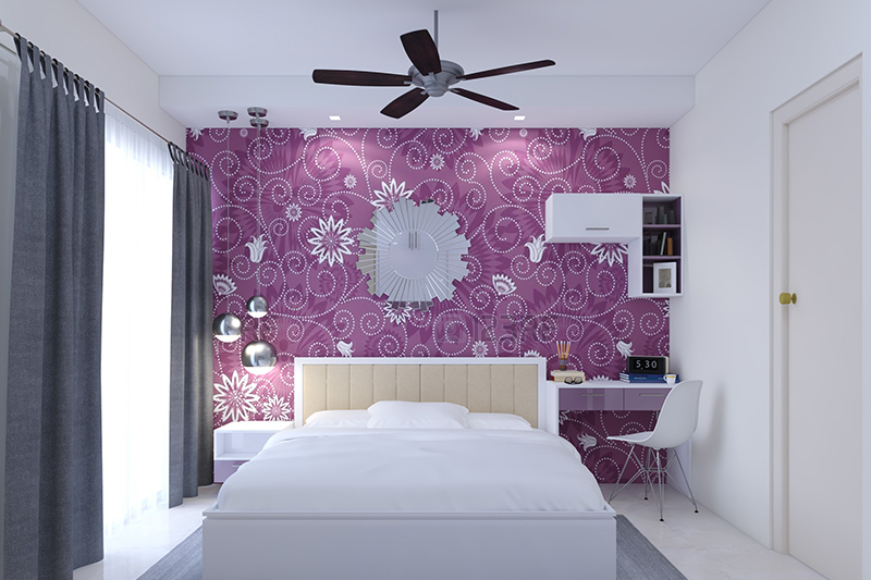 3d wallpaper for bedroom walls which makes a bold statement with a  floral colouured wallpaper for wallpaper design for bedroom