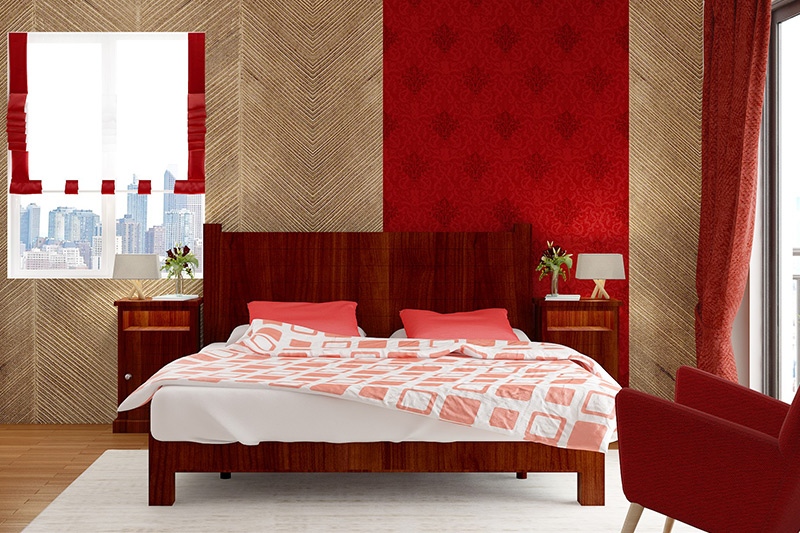 Bedroom wallpaper price for this brown textured herringbone patterned wallpaper design for bedroom