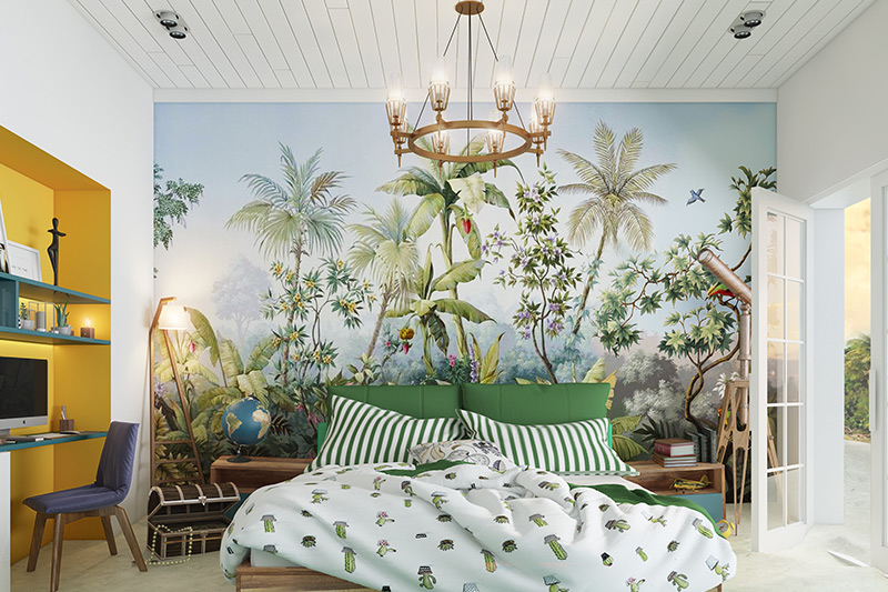 Master bedroom wallpaper where you can lift up your mood with beach side style wallpaper for bedroom walls